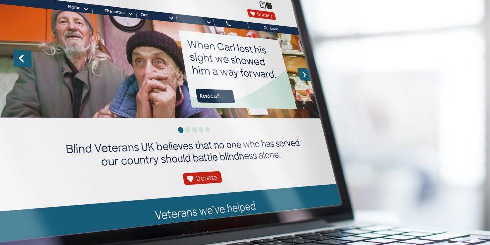 The Team creative brand and communications agency. Blind Veterans UK brand identity refresh