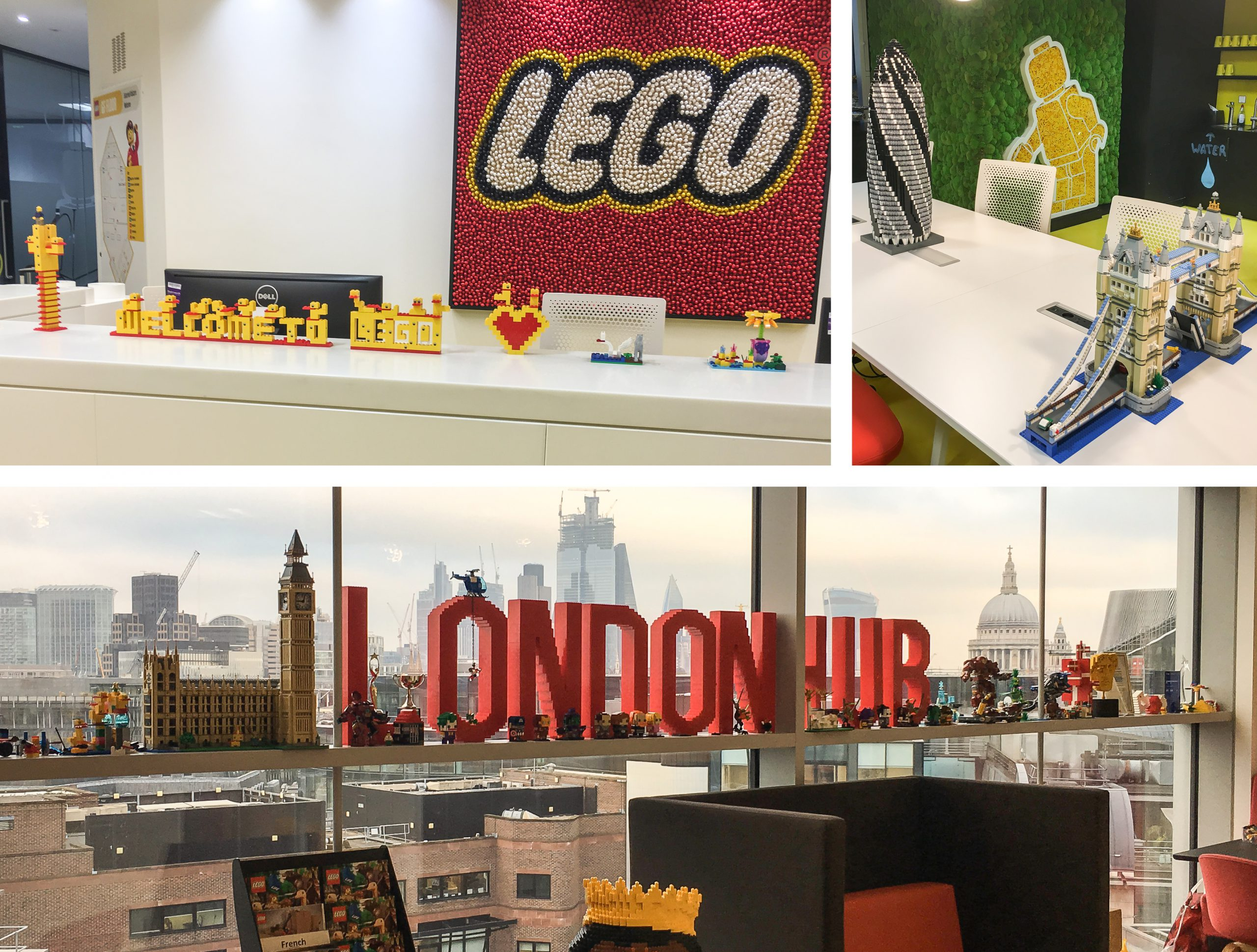 The Team brand and communications agency workplace design Lego