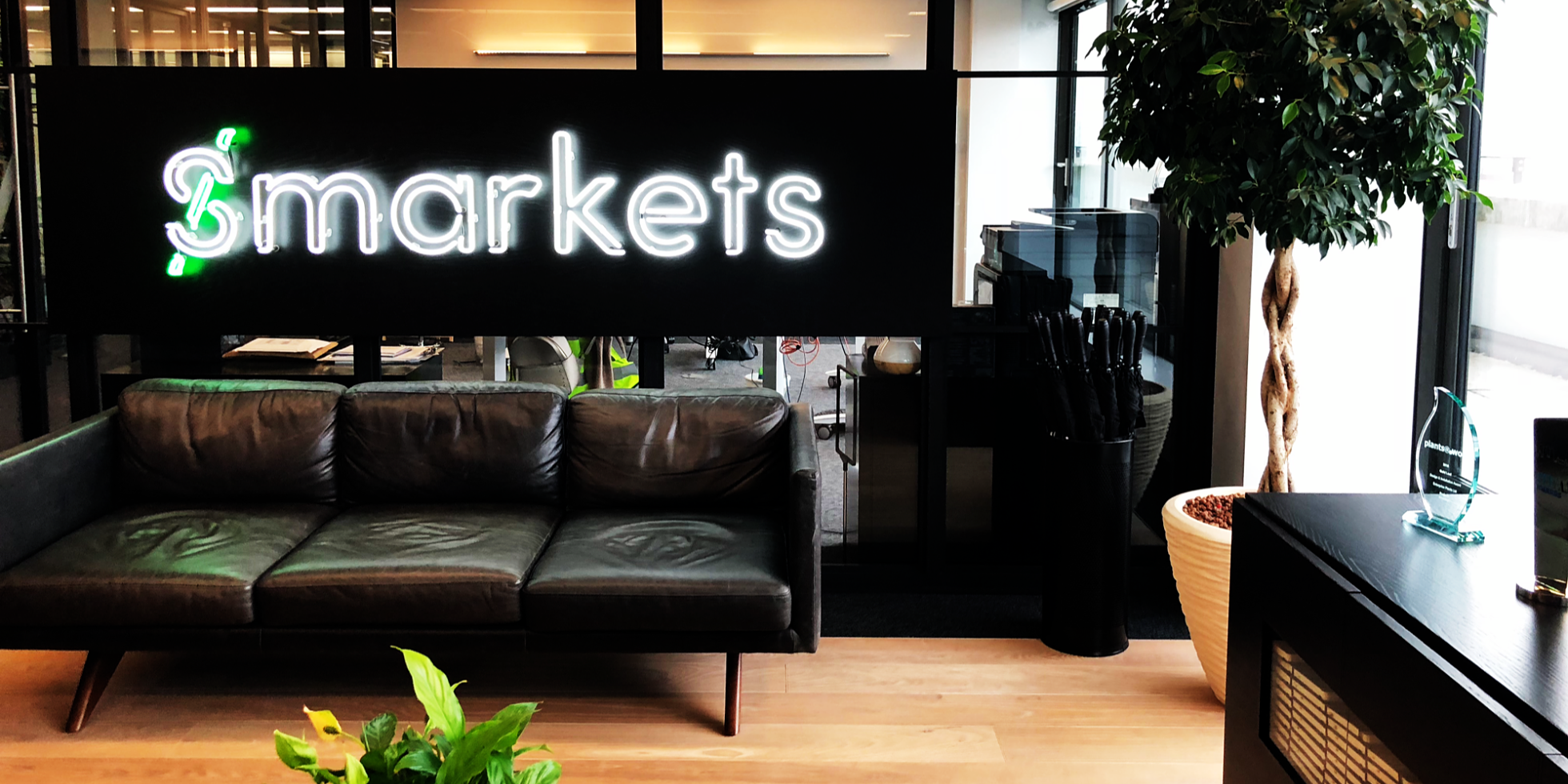 The Team brand and communications agency Designing smart employee practices and workplaces at Smarkets workplace design