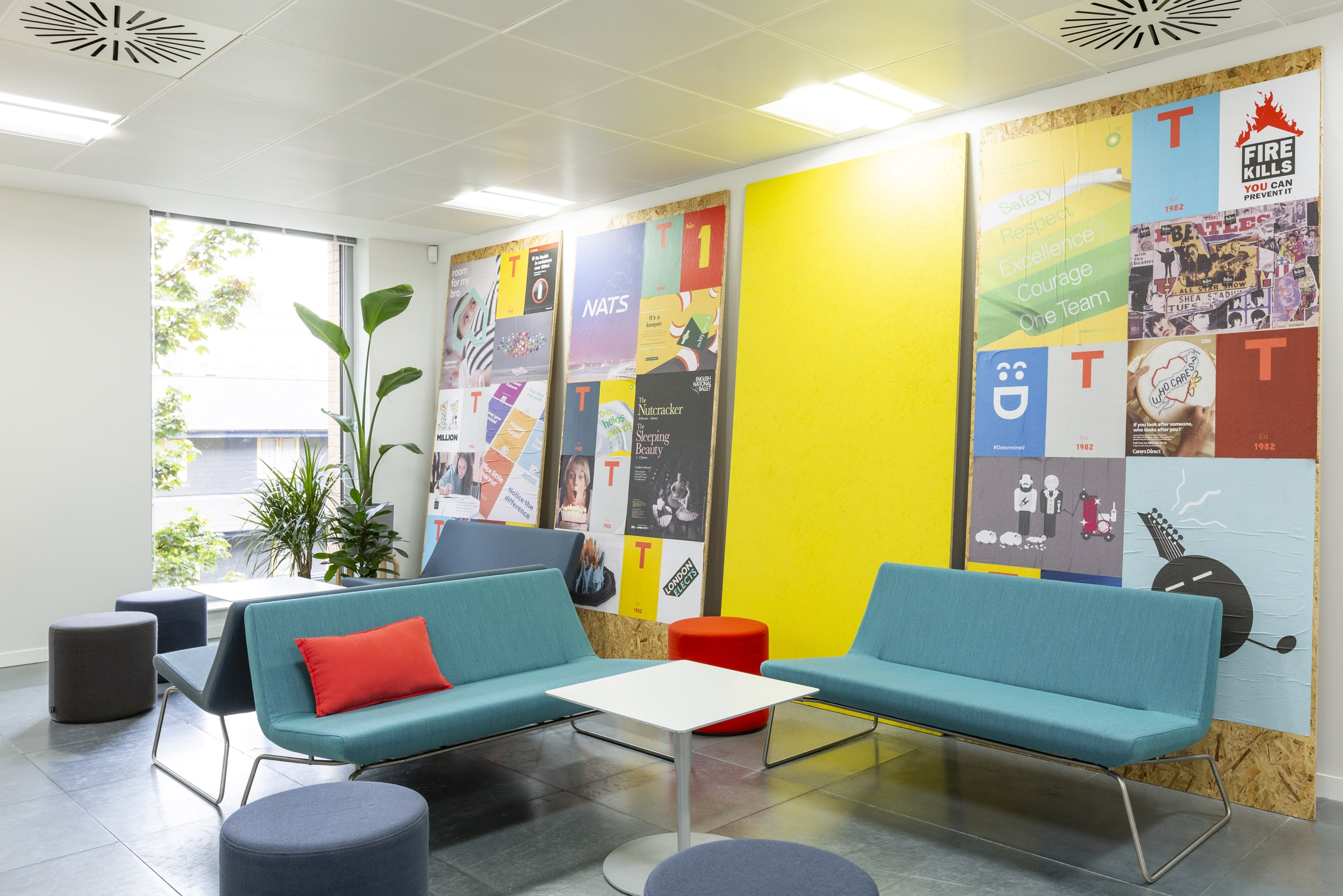 The Team brand and communications agency. Office redesign - reception
