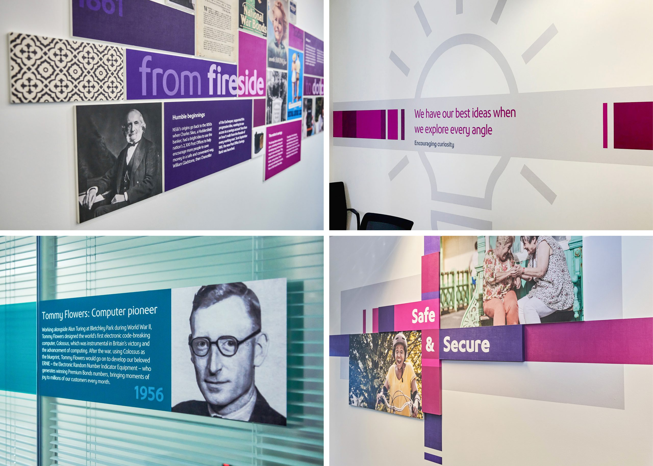 The Team creative brand and communications agency. NS&I office redesign