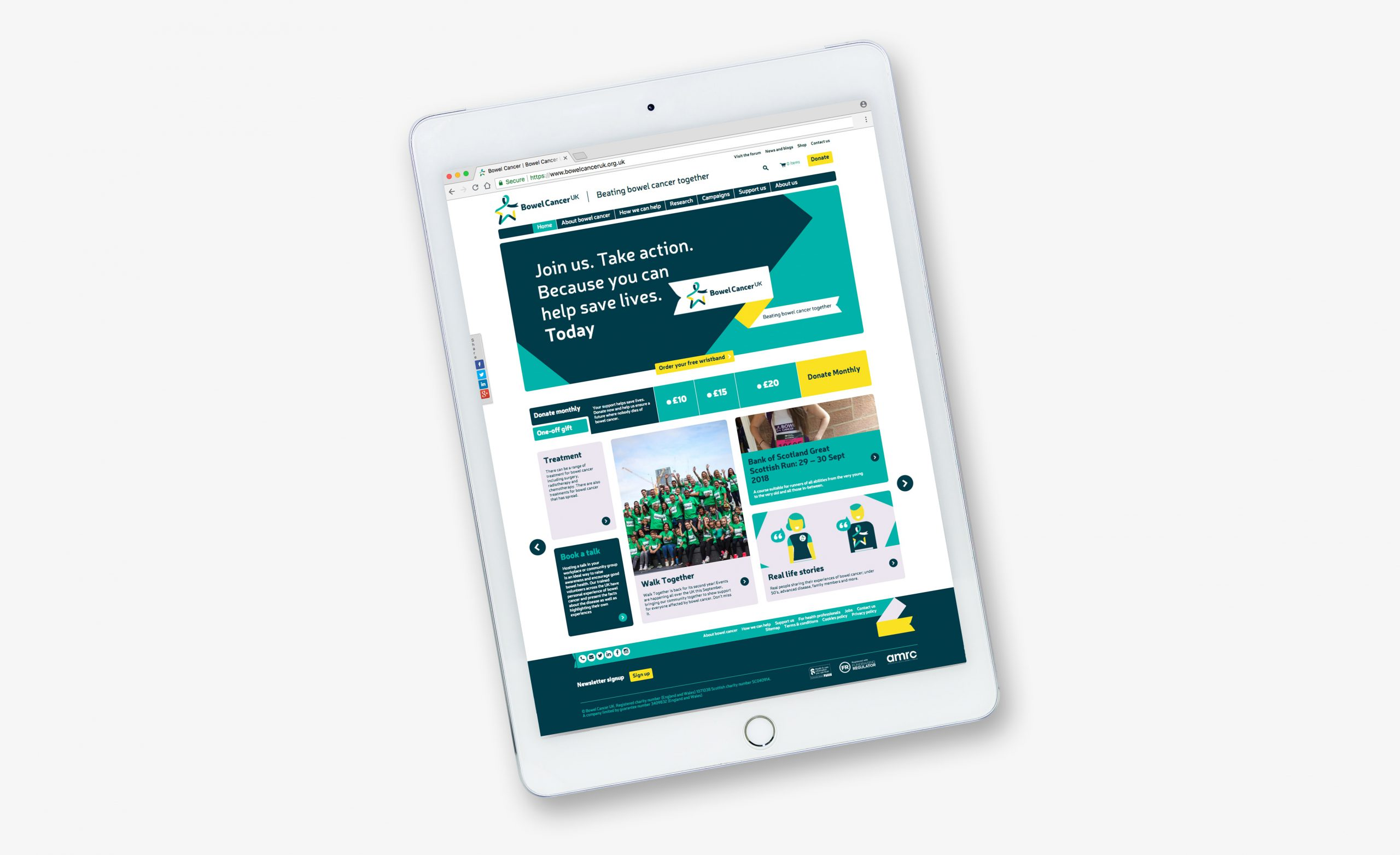 Bowel Cancer UK Website