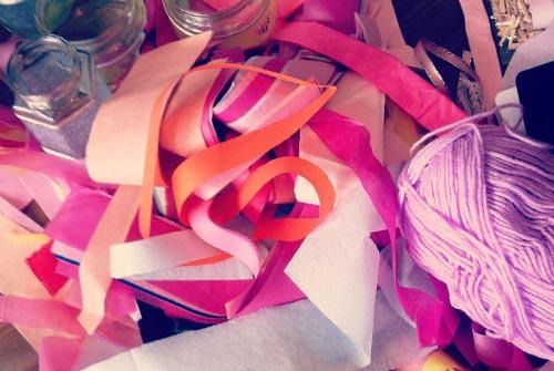 Ribbon and string