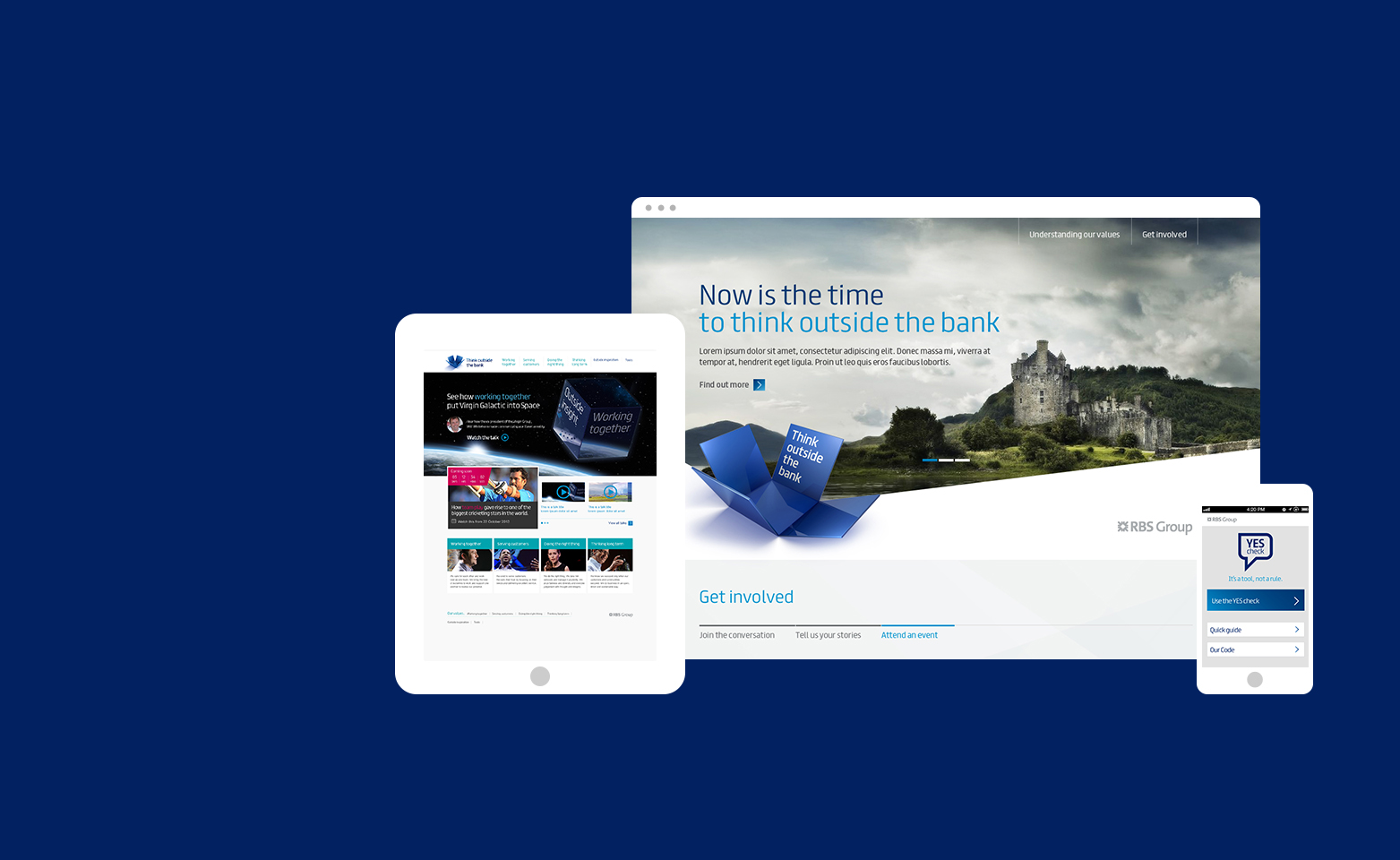 RBS Think outside the box online